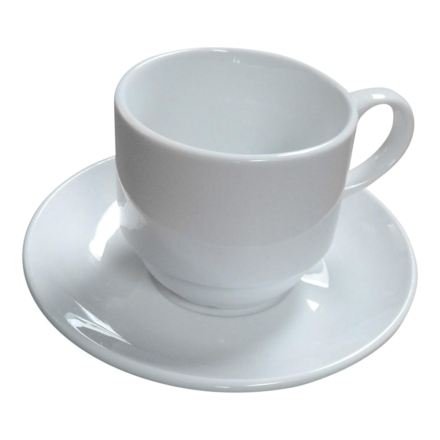 Koffiekop en schotel stapelbaar
