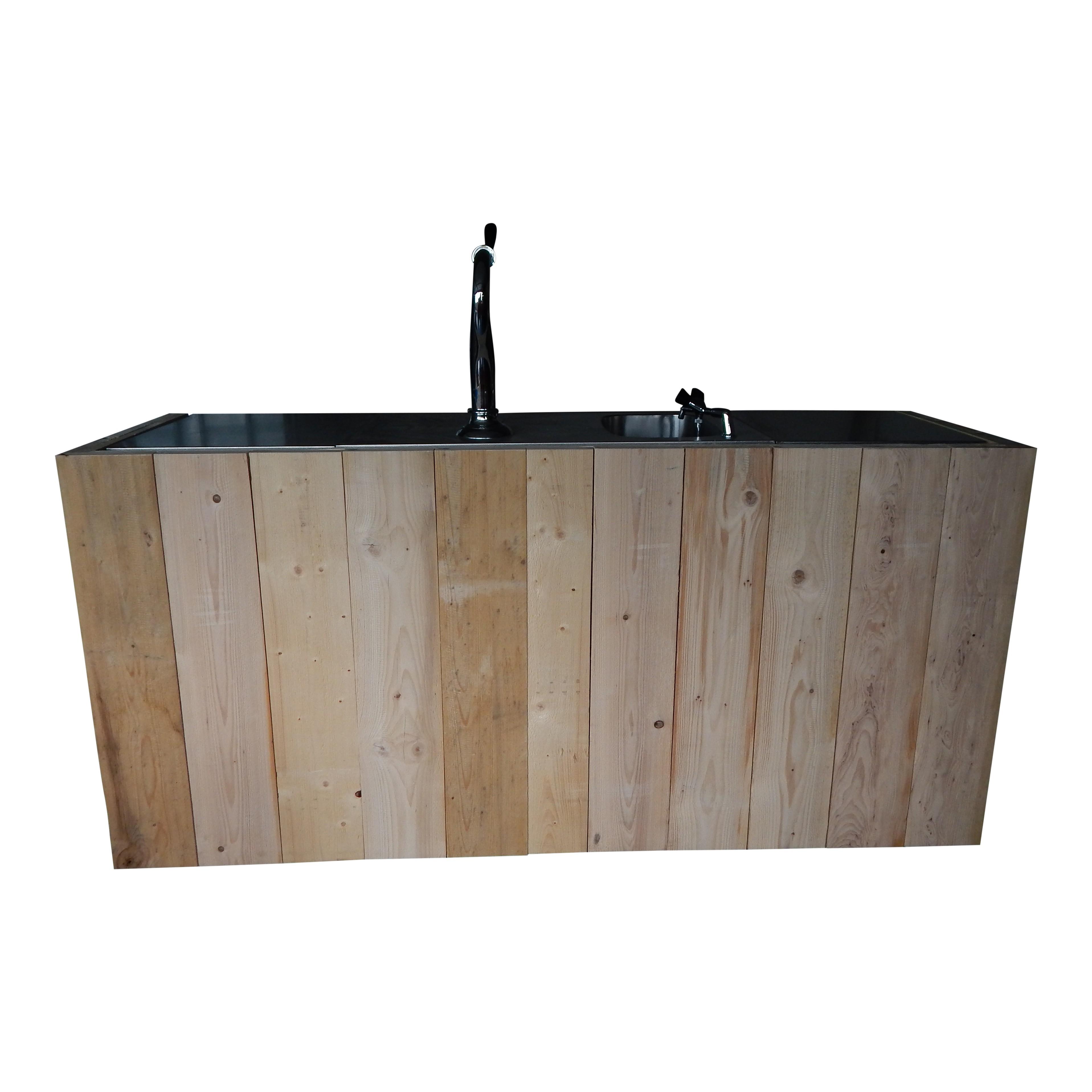 Bar ombouw steigerhout