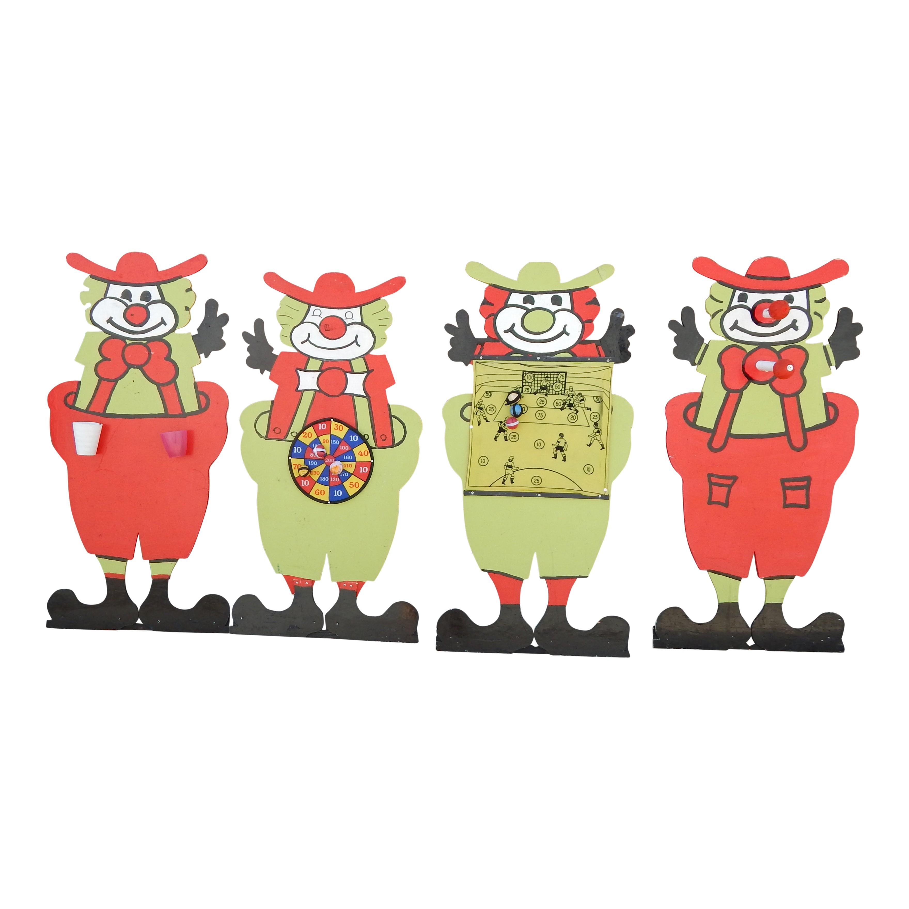 4 clowns Spellen
