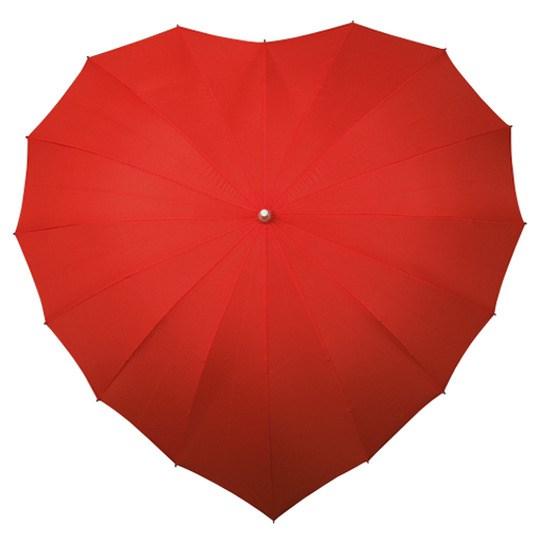 Love paraplu rood