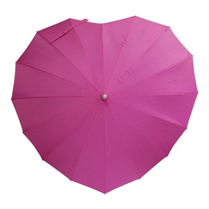 Love paraplu donker roze