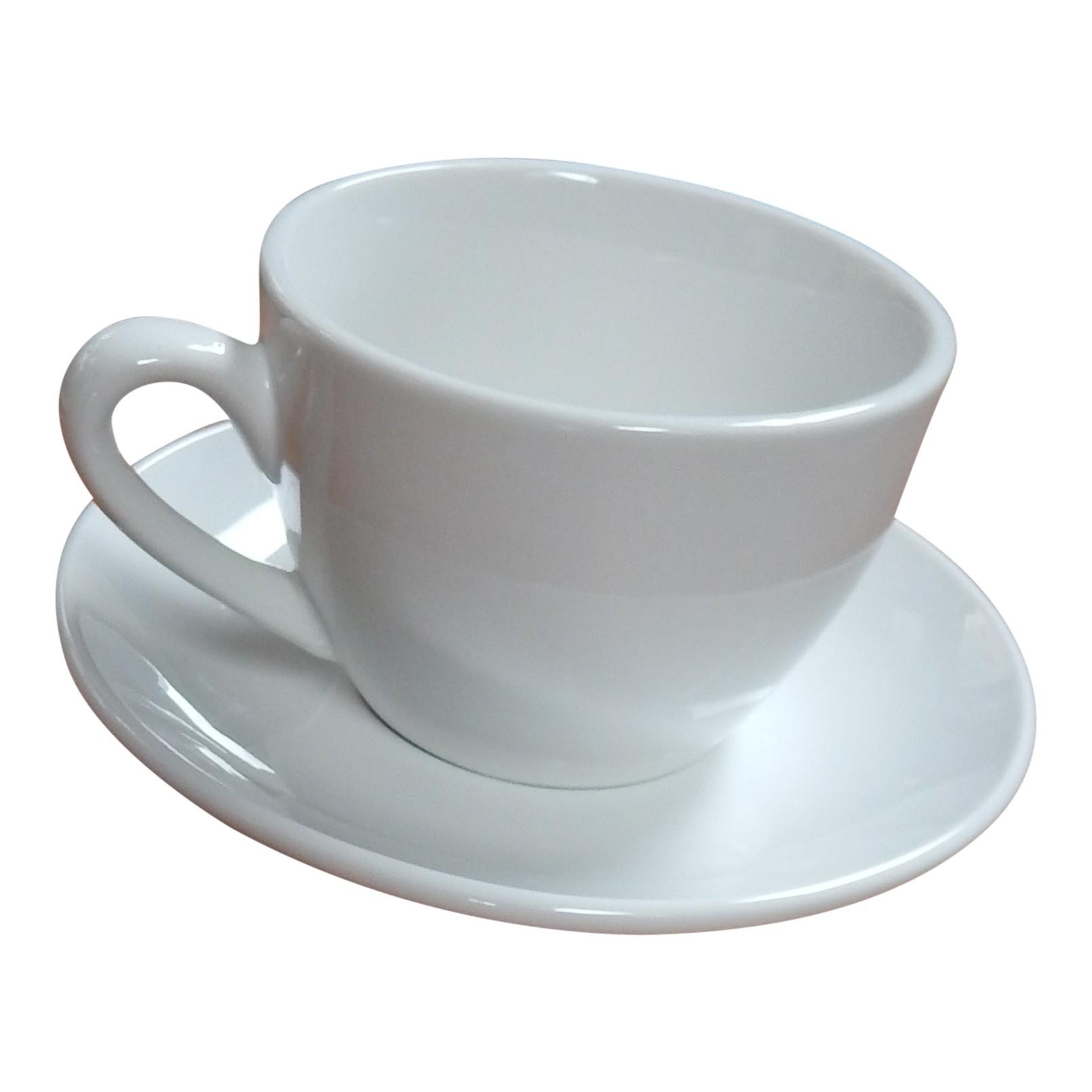 Kop en schotel cappuccino