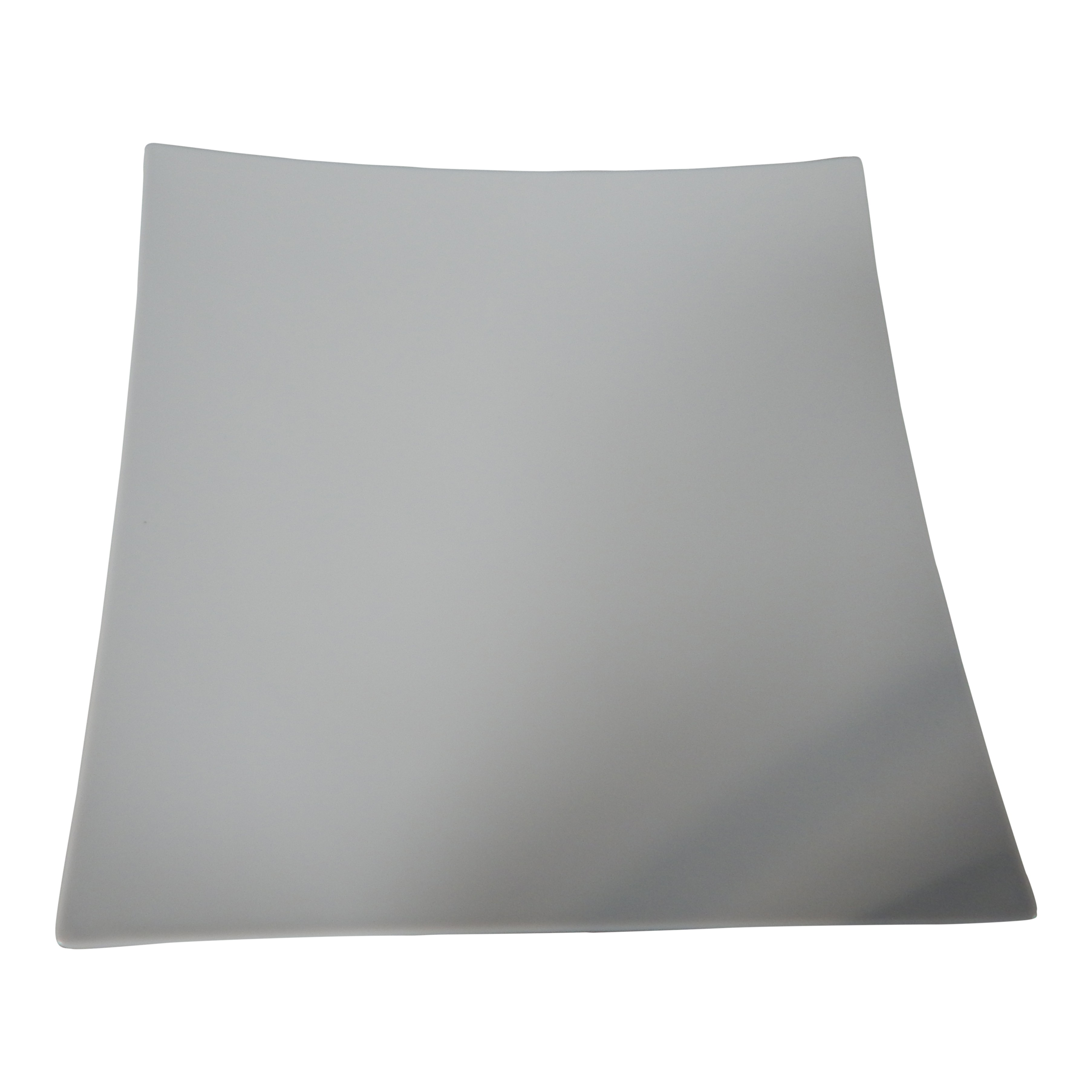 Gebogen vierkant bord wit 31x31cm